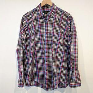 🍪Colours Alexander Julian Button Down Plaid Shirt